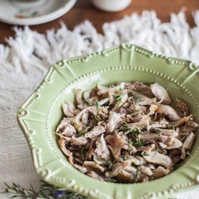 Salada de coelho bravo com alecrim