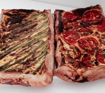 Para um dia muito especial, tarte de espargos verdes e queijo de azeitão DOP