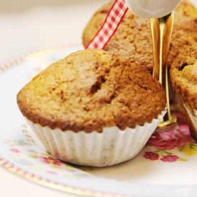 Muffins de framboesa e canela