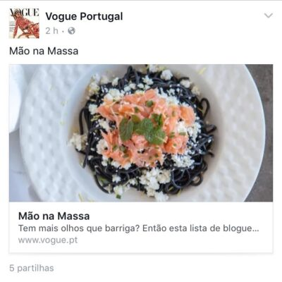 VOGUE Portugal – TOP 15 blogs de culinária