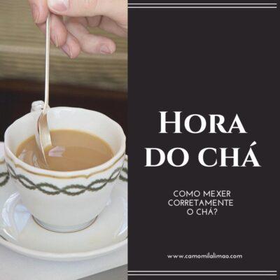 Como mexer, corretamente, o chá