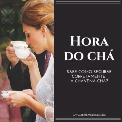 Como segurar, corretamente, a chávena de chá