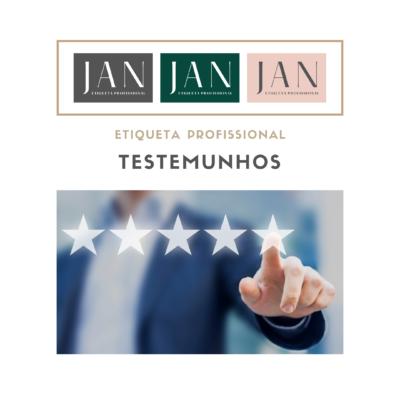 TESTEMUNHOS – CURSO ETIQUETA PROFISSIONAL