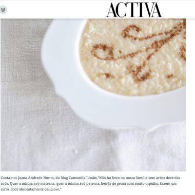 Revista Activa – Arroz Doce da Avó