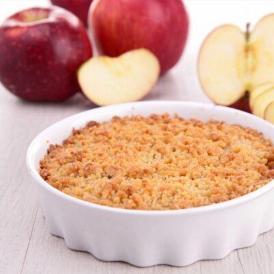 Crumble de maçã com especiarias