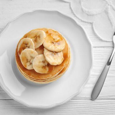 Panquecas de maçã e banana