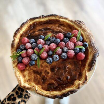 """Tarte de """"Nata"""" com frutos vermelhos"""